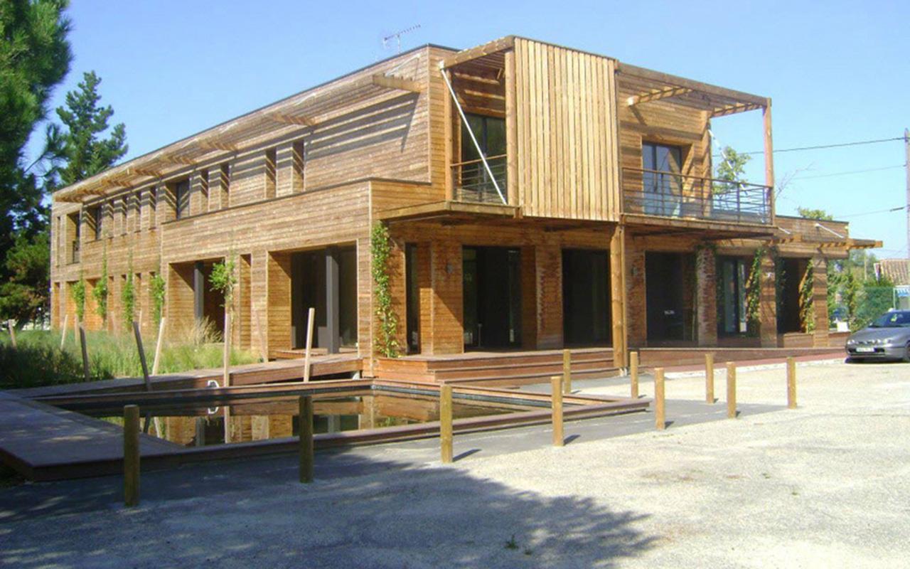 Maison Ossature Bois Bordeaux lan ederra - surélévation, construction, extension ossature